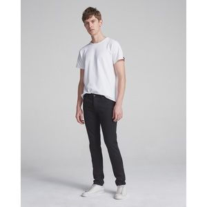 Rag & Bone Black Standard Issue Fit 1 Skinny Leg